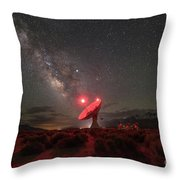 Owens Valley Radio Observatory  Throw Pillow by Michael Ver Sprill