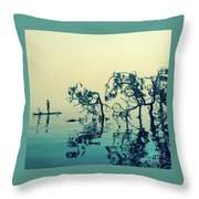 Paddle Board Adventure Throw Pillow