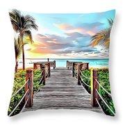 1 Paradise Pier Throw Pillow