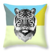 Party Tiger Throw Pillow