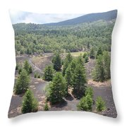 Photography Landscape Shot From The Etna National Park On Sicily Throw Pillow