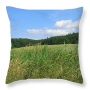 Photography Landscape With Fields In Germany Throw Pillow