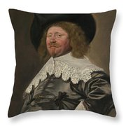 Portrait Of A Man  Possibly Nicolaes Pietersz Duyst Van Voorhout  Throw Pillow