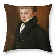 Portrait Of A Uong Man Of The Bazely Family Throw Pillow