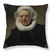 Portrait Of Aechje Claesdr   Throw Pillow