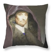 Portrait Of An Old Woman  Throw Pillow
