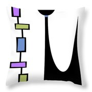 Rectangle Cat 2 Throw Pillow by Donna Mibus