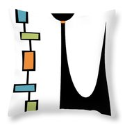 Rectangle Cat Throw Pillow by Donna Mibus