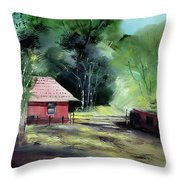 Red House R Throw Pillow