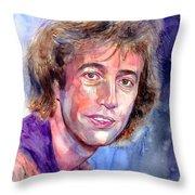 Robin Gibb Portrait Throw Pillow