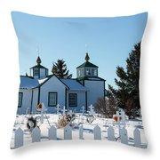 Russian Orthodox Church Ninilchik Alaska Throw Pillow