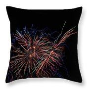 Saint Louis Riverfront 4th Of July Throw Pillow