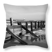 Sea Barrier Throw Pillow