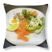 Seafood Platter Throw Pillow