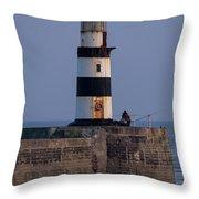 Seaham Lighthouse Throw Pillow