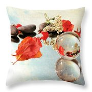 Seasons In A Bubble Throw Pillow