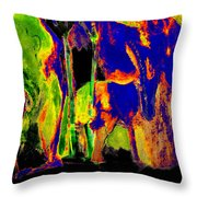 Self-portrait By A River Throw Pillow
