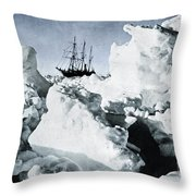 Shackleton Expedition Throw Pillow by Granger