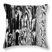 Stained Wood Siding Throw Pillow