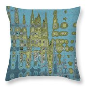 Summer Squash Abstract  Throw Pillow