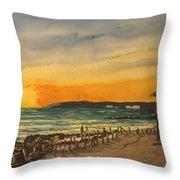 Sunset On Bradenton Beach, Fl. Throw Pillow