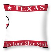 Texas State License Plate Throw Pillow