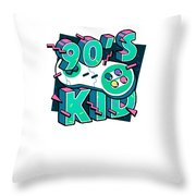 The 90s Gaming Born In The 90s Old Time Gaming Throw Pillow