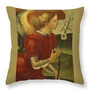 The Archangel Gabriel Throw Pillow