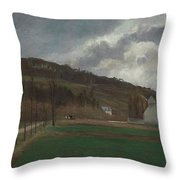 The Banks Of The Marne In Winter Throw Pillow