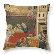 The Birth, Naming, And Circumcision Of Saint John The Baptist Throw Pillow