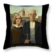 The Farmer And Adele Throw Pillow