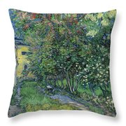The Garden Of The Asylum At Saint-remy Throw Pillow