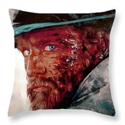 The Wounded Cowboy Throw Pillow
