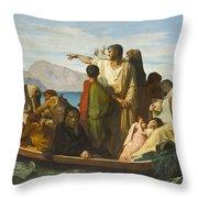 Tiberius Exiles  Throw Pillow