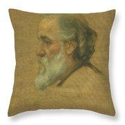 Title Sketch Of Alphonse Legros Throw Pillow
