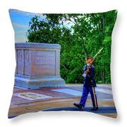 Tomb Of The Unknown Soldier Painting Throw Pillow