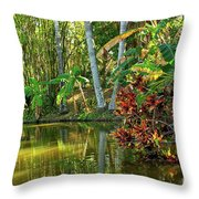 Tropical Corner Throw Pillow