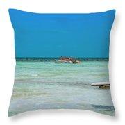 Tropical Days Bucket List Throw Pillow
