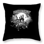 tshirt Just Here Chillin grayscale Throw Pillow
