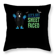 tshirt Lets Get Sheet Faced invert Throw Pillow