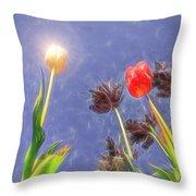 Tulips, Tulips, Tulips Throw Pillow by Susan Leonard