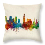 Utrecht The Netherlands Skyline Throw Pillow