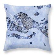 Venice Italy City Map Throw Pillow