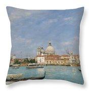 Venice, Santa Maria Della Salute From San Giorgio - Digital Remastered Edition Throw Pillow