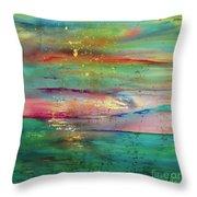 Vintage Sunset Throw Pillow