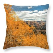 View Of Peaks Throw Pillow