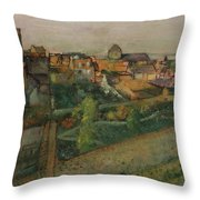 View Of Saint Valery Sur Somme  Throw Pillow