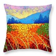 Violet Hills  Throw Pillow