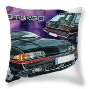 Volvo 480 Turbo Throw Pillow