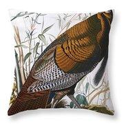 Wild Turkey  Male  Throw Pillow